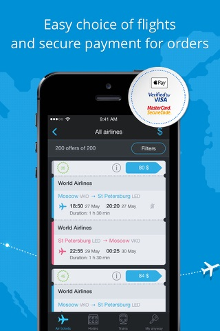 Anywayanyday – flights, hotels screenshot 2