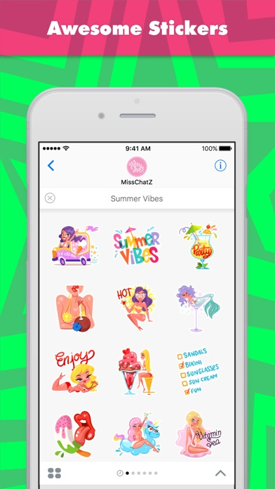 Summer Vibes Stickers review screenshots