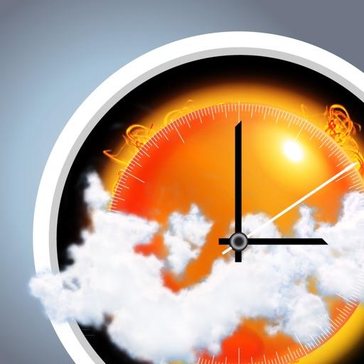 e-Weather HD 10天天气,地震,气压计,时钟