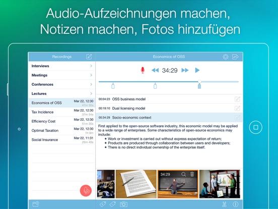 eXtra Voice Recorder - Aufzeichnen, Notizen machen Screenshot