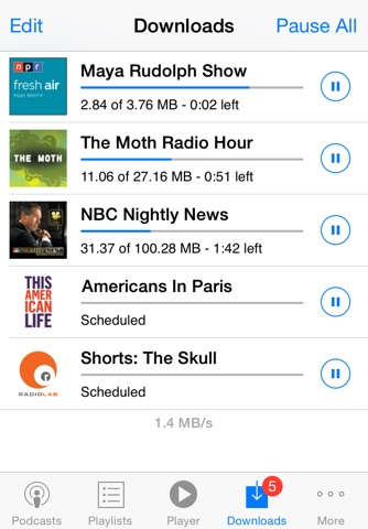 PodCruncher Podcast Player App screenshot 4