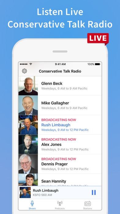 Conservative Talk Radio Plus Screenshot