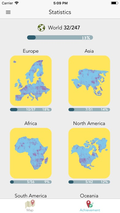 Screenshot for Scratch-Off Map in United States App Store