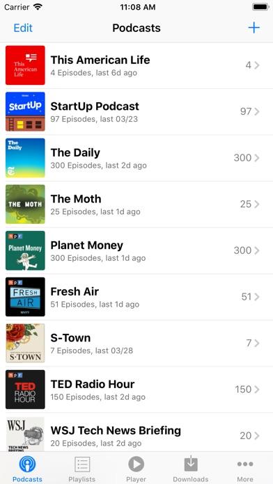 PodCruncher Podcast Player App Screenshots