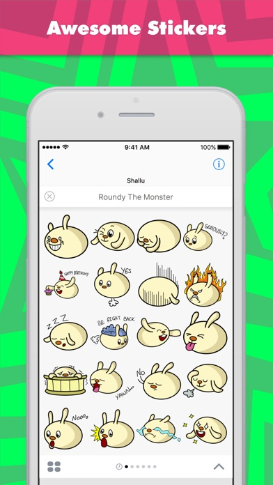Roundy The Monster Stickers review screenshots