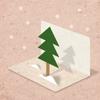 Pine - 3D Greeting Card