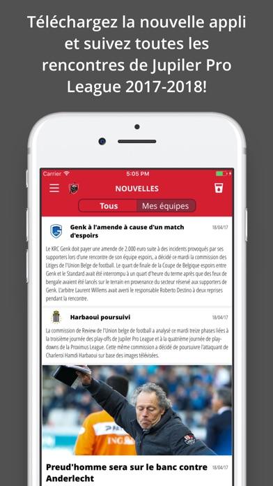 Jupiler Pro League - officialCapture d'écran de 1