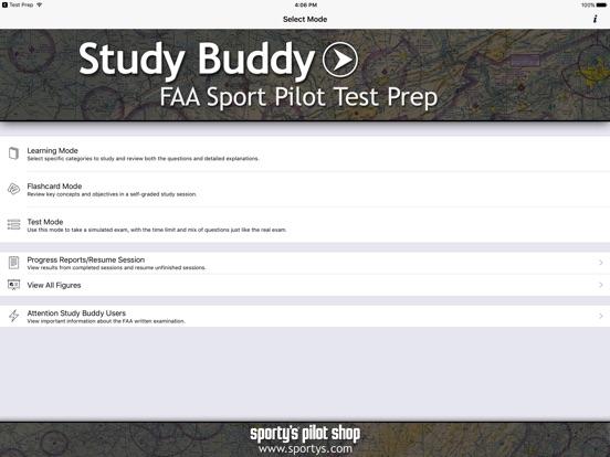 download study buddy test prep faa sport pilot 1 6 4. Black Bedroom Furniture Sets. Home Design Ideas