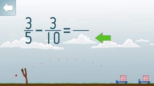 Math Shot Subtract Fractions Screenshots