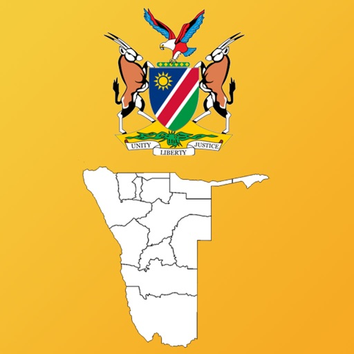 Namibia Region Maps and Capitals iOS App