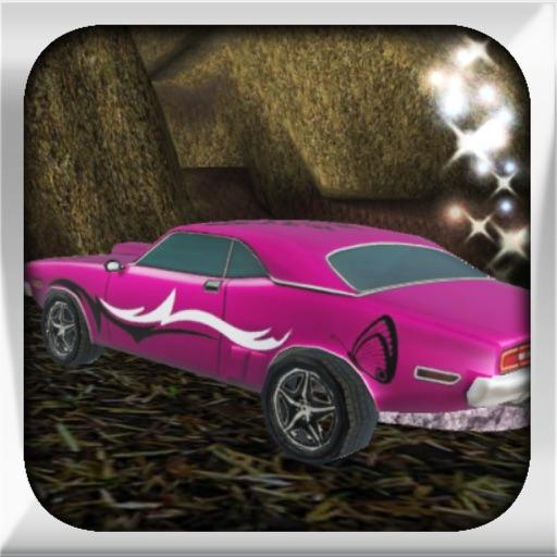 スーパーピンクの車のレースゲーム