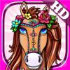 Coloring Books Fun Cute Horse Games for Kids Girls