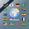Mundo atlas y mapamundi MxGeo Free