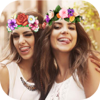 Flower Filters Crown for Snapchat - Collage Photo
