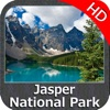 Jasper National Park HD GPS charts Navigator weather
