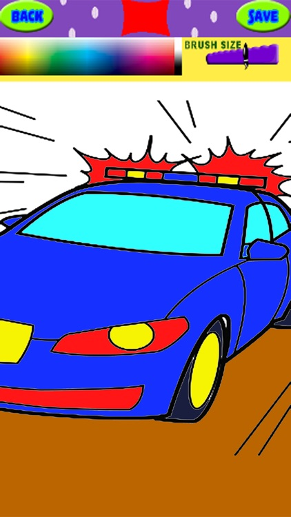 Coloring Page Police Cars For Kids And Preschool