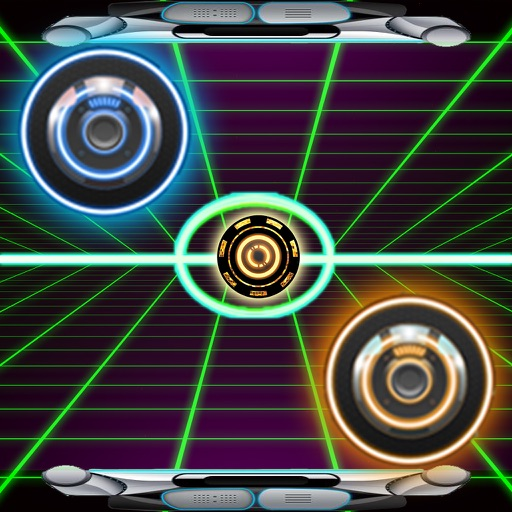Air Hockey Neon Light Galaxy Glow Hockey HD 2 iOS App