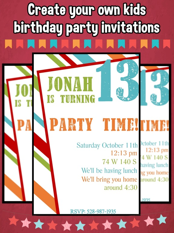 Happy Birthday Invitations For Kids Party on the App Store – Kids Birthday Party Invite
