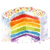 Watercolor Happy Birthday Party Sticker Pack