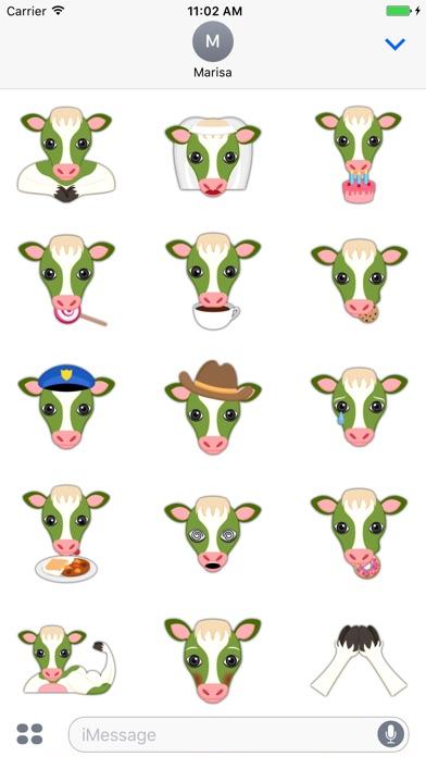 Screenshot of Saint Patrick's Day Cow Emoji Stickers4