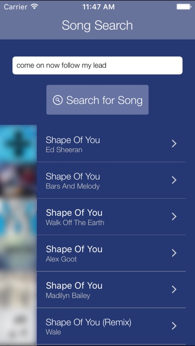 Premium Search for Pandora Screenshot