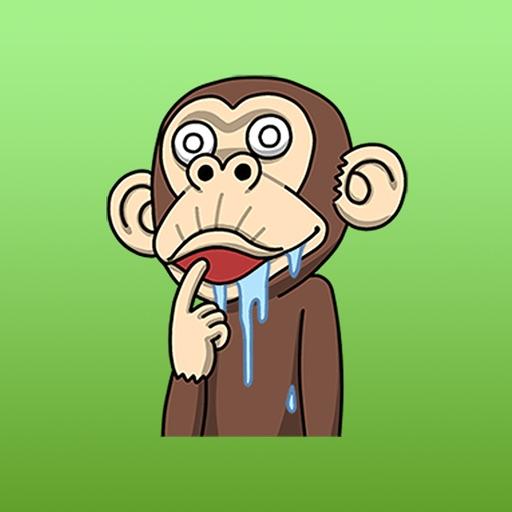 Crazy animated monkeys