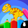 Dinosaur Drawing Jigsaw: Color Doodle Puzzle Game