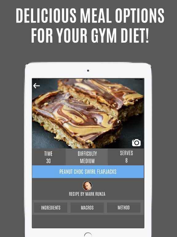 Screenshot #1 for Gymster - Gym Workouts & IIFYM Diet Meal Recipes