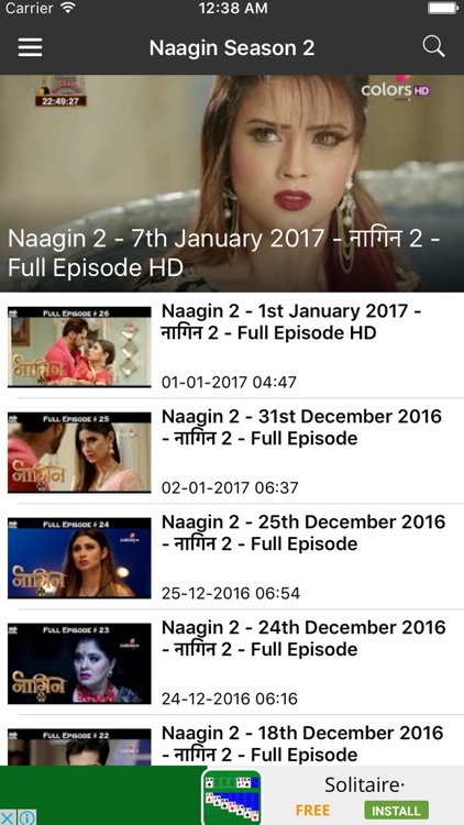 Episodes for Naagin by Ahmed Qureshi