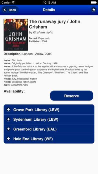 Screenshot #9 for Lewisham Libraries