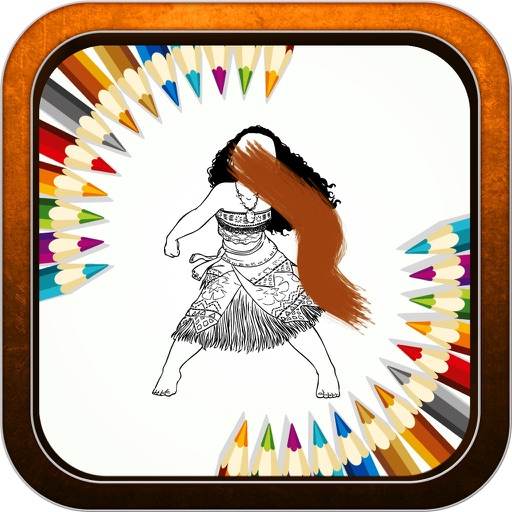 """Color Book Game - """"for Moana"""" iOS App"""