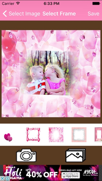 Pink Heart Photo Frame For Girls by Santosh Mishra