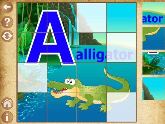 Алфавит пазлы для детей и малышей - детские игры на iPad