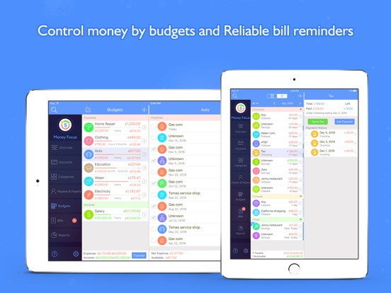 Screenshot #3 for Money Focus Pro - Account, Budget and Bill Manager