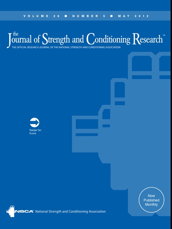 The Journal Of Strength Conditioning Research By Wolters Kluwer