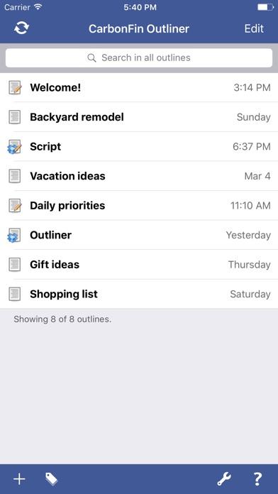 Outliner Скриншоты4