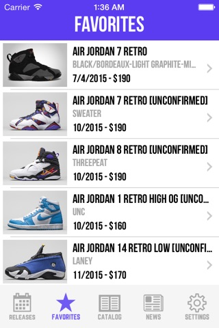Sneaker Crush - Air Jordan & Nike Release Dates screenshot 3