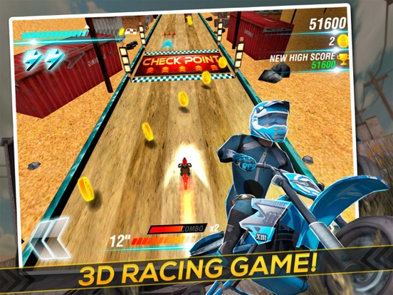 Screenshot #1 for Motocross Trial Racing 3D