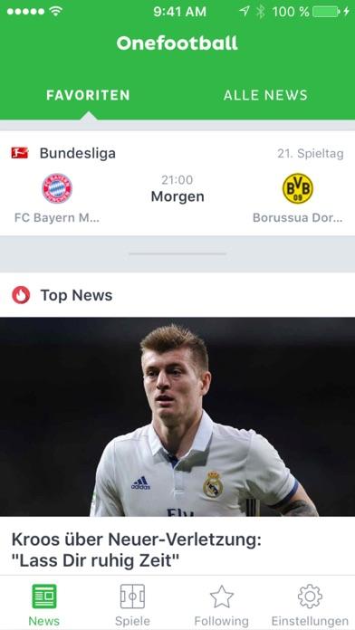 Onefootball - Fußball Bundesliga Ergebnisse Screenshot