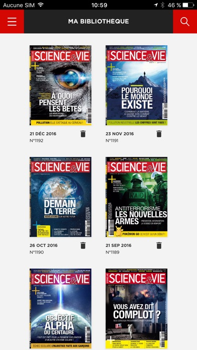 Sciencevie Magazine review screenshots