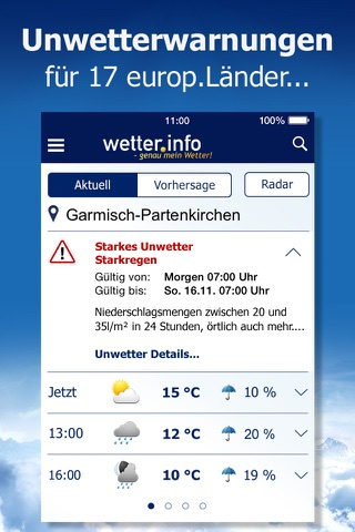 Wetter von t-online.de screenshot 2