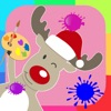 Coloring Book Reindeer