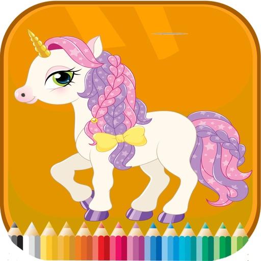 Pony Coroling Book - Activities for Kids iOS App