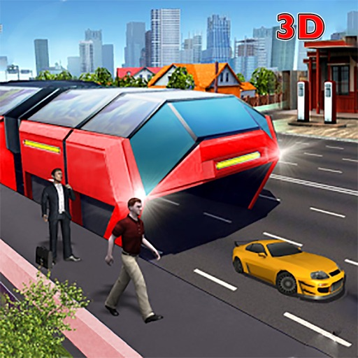Chinesse Bus: Elevated Transit China Bus 3D