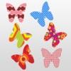 蝴蝶 - 彩色和對稱的貼紙