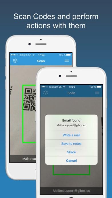 scan pro barcode qr code reader app report on mobile action. Black Bedroom Furniture Sets. Home Design Ideas
