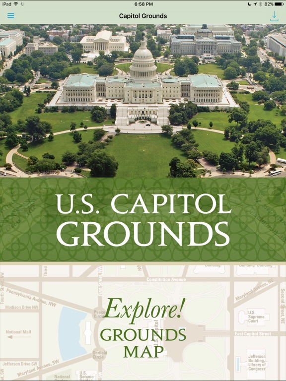 US Capitol Grounds On The App Store - Us congress building map