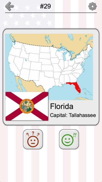 US States Map Capitals Flags American Quiz On The App Store - Us map iphone developer