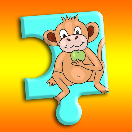 Monkey Curious Jigsaw Puzzle for Little Kids iOS App