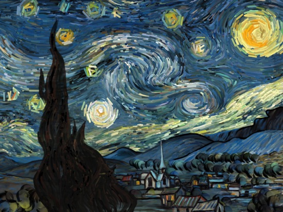Screenshot #1 for Starry Night Interactive Animation